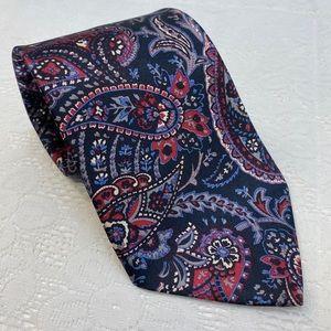 Savvy Brand Paisley Print Men's Tie